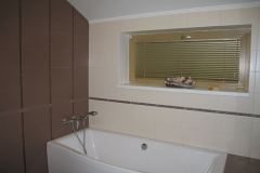 Project of a bathroom with choice of sanitary technicians and materials